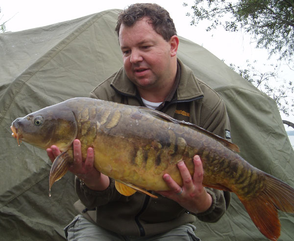 Mirror carp, 20+ pounds, caught by Steve Bryant