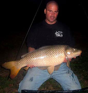 Ken Keene with a 25 lb. common carp from southeastern Pennsylvania