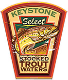 Keystone Select Stocked Trout Waters logo