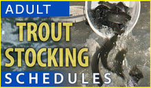 Trout stocking schedules